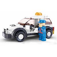 Конструктор SLUBAN M38-B0350 «Автогонки»: машинка, фигурка, 96дет.