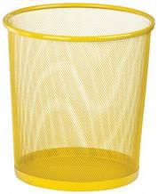 Корзина для бумаг Zibi круглая 295x295x280мм металлическая желтая (ZB.3126-08)