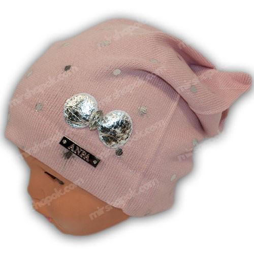 вязаные шапки для девочек