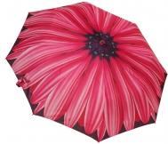 Женский складной зонт полуавтомат (розовый)