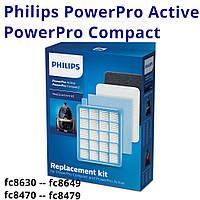 FC 8058 01 комплект hepa фильтров Philips FC8058 оригинал набор аксессуаров для пылесосов fc 8471, 8474, 8671