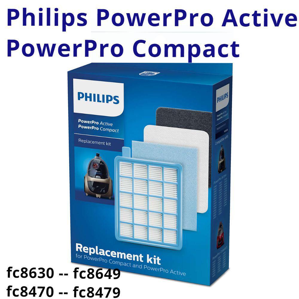 FC 8058 01 комплект hepa фильтров Philips FC8058 оригинал набор аксессуаров для пылесосов fc 8471, 8474, 8671, фото 1