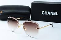 Солнцезащитные очки Chanel коричневые, фото 1