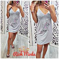 Женская домашняя ночная рубашка из хлопка, в моделях, Турция