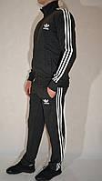Мужской спортивный костюм Adidas (размеры 46-54, трикотаж) - темно-серый