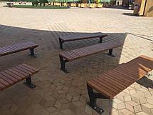 Лавка деревянная без спинки , фото 2