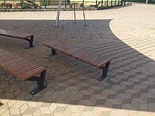 Лавка деревянная без спинки , фото 3