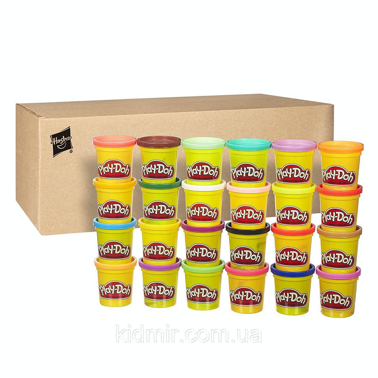Плей-До набір пластиліну з 24 банок по 86 гр. Play-Doh 24-Pack Set Hasbro
