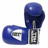"""Перчатки боксерские """"Tiger"""" AIBA Green Hill 12 унций синие"""