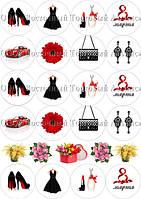 Печать съедобного фото для капкейков - 8 Марта - Ø5 см - Вафельная бумага - Для милых дам №1, фото 1