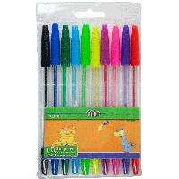 Набор из 10 шариковых ручок  10 цвета ZB.2012