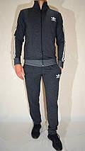 Мужской спортивный костюм Adidas (размеры 46-54, трикотаж) - джинсовый цвет, фото 3