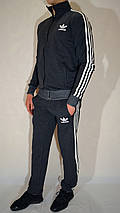 Мужской спортивный костюм Adidas (размеры 46-54, трикотаж) - джинсовый цвет, фото 2