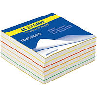 Блок бумаги для заметок Buromax Радуга 90х90/500л не клееный (BM.2245)