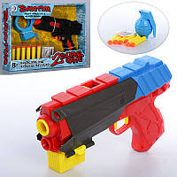 Пистолет RD8810-13 водяные пули, пули-присоски, мишень, 2 вида, кор., 34-25-6,5 см.
