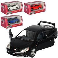 Машинка KT 5053 W мет., инерции., открокр. двери, резиновые колеса, 4 цвета, кор., 16-7-8 см.