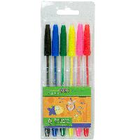 Набор из 6 шариковых ручок  6 цвета ZB.2011