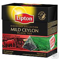 """Чай """"Ліптон"""" 20п*1,8г Чорний Mild Ceylon пірамідка (1/24), фото 1"""