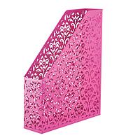 """Лоток вертикальный """" Barocco """" 338x248x70мм , металлический , розовый"""