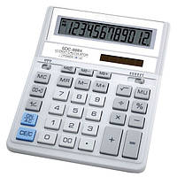 Калькулятор настольный Citizen SDC-888 ХWH,12-разрядный ,бело-серый