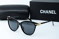 Солнцезащитные очки Chanel черные, фото 1