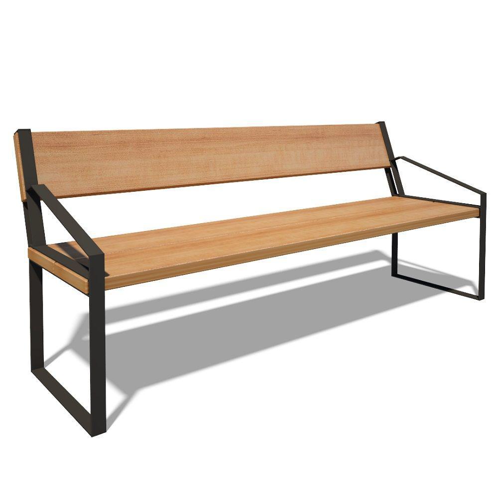 Деревянная скамья со спинкой