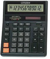 Калькулятор настольный Citizen SDC-888 XBK,12-разрядный черный