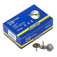 Кнопки Buromax никелированные 100шт (BM.5102)