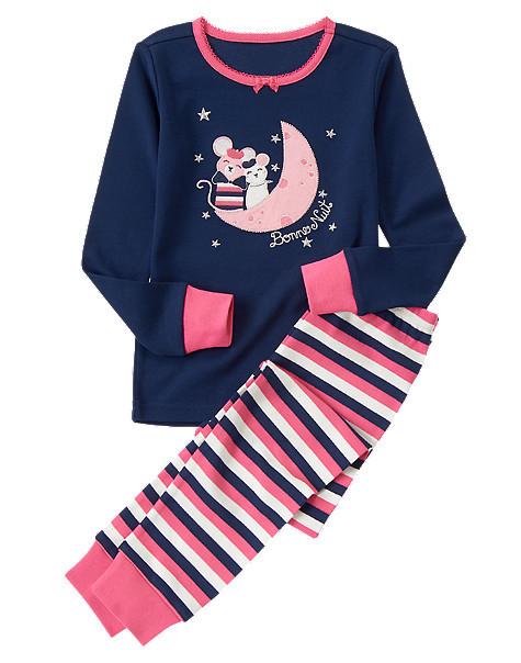 Пижама Влюбленные мышата с аппликацией и вышивкой (Размер 5) Gymboree (США)