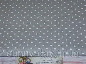 3984/7349, Murano Lugana, цвет - Gray/white dots/серый/белый горох, 32 ct