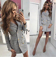 Модный женский пиджак платье