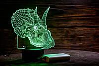 "Сменная пластина для 3D ламп ""Трицераптор"" 3DTOYSLAMP, фото 1"