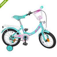 Велосипед двухколёсный PROFI Princess 14 дюймов, для девочек от 3 лет