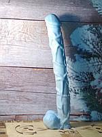 28 см. ПЕНИСтое мыло-великан ДИЛДО, голубой цвет. Неординарный подарок девушке.