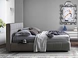 Двоспальне м'яка сучасна ліжко GAUCHO фабрика LeComfort (Італія), фото 2