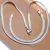Cеребряный набор цепочка и браслет для мужчин