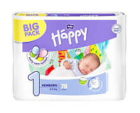 Подгузники Bella Happy Newborn 1 (2-5 кг), 78 шт.
