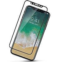 3D защитное стекло для Apple iPhone X (10) (на весь экран) black