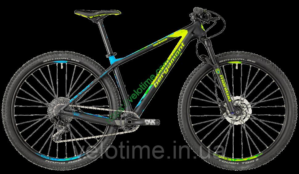 "Bergamont 29"" Revox Sport 2018 год (48 см, черный-желтый-синий)"