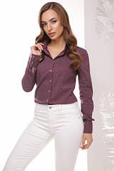 Блуза рубашка женская 1766 горох, (3цв), рубашка женская