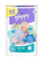 Детские подгузники Bella Happy Junior 6 (16+ кг) BIGPACK, 54 шт.