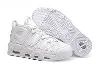 "Женские баскетбольные кроссовки Nike Air More Uptempo ""Triple White"""