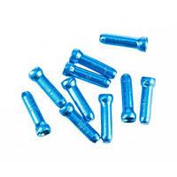 Наконечники для тросиков Jagwire, синие, алюминий