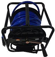 Шланг полиуретановый прямой с быстросъемником на вращающейся 360° катушке Air Pro HR02DX8030 (8х12х30 м)