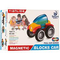 Конструктор магнитный - транспорт, для ребенка от 3 лет