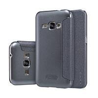 Кожаный чехол (книжка) Nillkin Sparkle Series для Samsung J120F Galaxy J1 (2016) Черный