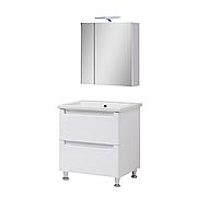 Мини-комплект мебели для ванной комнаты Эльба 60 напольный с зеркальным шкафом Юввис