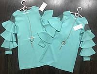 Платье для девочки с рукавами воланы  140р
