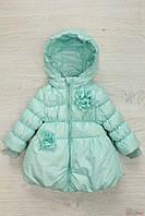 Куртка для девочки мятного цвета (86 см.)  Monnalisa 2129000459415