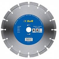 Диск отрезной сегментный S&R по бетону Standart 230